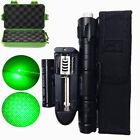 Tactical 5mw Green Lazer Laser Pointer Lazer Light Beam Burn Zoom+18650 Battery