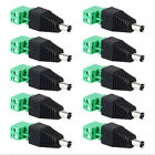 10pcs/kit Power DC Male to Screw Terminal Block Connector For Power Adapter/CCTV