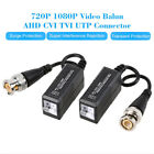 1 Pair Video Balun AHD CVI TVI Coax To UTP Cat5 Cat6 Connector For CCTV Camera