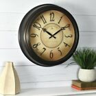 """Round Vintage Style Wall Clock ~ Distressed Classic Finish w/Filigree Accent 18"""""""