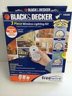 NEW! Black & Decker 3piece Wireless Lighting Kit FW2000