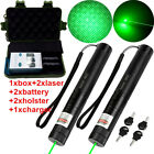 Military Green 5MW 18650 Laser Pointers Lazer Pen Visible Beam Zoom Burn Cased