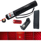 Red Laser Pointer 5mw 650nm Laser Light Torch Visible Beam+16340 Battery Charger