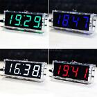 4-digit Green LED Digital Clock DIY Kit Light Control Temperature Date Time E1H9