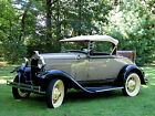 1931 Ford Model A Roadster - Stone Brown with Tacoma Cream Wheels antique cars