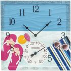 "SPRINGFIELD Springfield 14"" At The Pool Poly Resin Clock With Thermometer"
