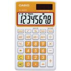CASIO Casio Solar Wallet Calculator With 8-digit Display (orange)