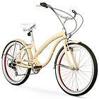 "26"" Firmstrong Bella Fashionista Seven Speed Women's Beach Cruiser Bicycle,"