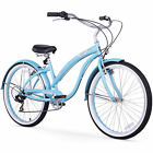 """26"""" Firmstrong Bella Classic Seven Speed Women's Beach Cruiser Bicycle, Baby"""