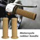 Universal 7/8'' 22MM Vintage rubber Motorcycle handle grips coffee P7C9