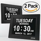 2 pcs Extra Large Impaired Vision Digital Clock with  Battery Backup,Black