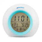 Alarm Clock Wake Up Light Digital Ninonly 6 Natural Sound Indoor Temperature Cal