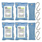 Bamboo Activated Charcoal Air Purifying Bags by Hello Freshies 6 Pack (4x 200g &