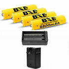 BXE 8pcs 3.7V 18650 Li-ion Rechargeable Battery+2x Charger For Flashlight Torch~