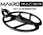 "MAKRO RACER 15.5"" x 13"" DD Metal Detector SEARCH COIL With COVER & HARDWARE KIT"