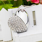 Heart Shape Crystal 8G/16G/32G/64G USB Flash Drive Necklace Memory Stick Gift