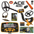 GARRETT ACE 400 Metal Detector With PRO-Pointer AT, Coil Cover, Enviro Cover, HP