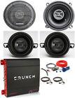 "2) Hifonics ZS525CX 5.25"" 400W Speakers+2) 3.5"" Speakers+4-Ch Amplifier+Amp Kit"