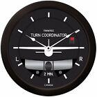 "Trintec Massive 14"" Aviation 2 Minute Turn and Bank Wall Clock 2066-14 Aviatrix"