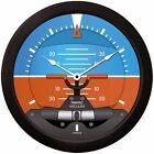 "Trintec Massive 14"" Modern Artificial Horizon Aviation Wall Clock 2063-14"