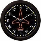 "Trintec Massive 14"" Aviation Directional Gyro Wall Clock 9062-14 Aviatrix"