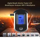 Pocket LCD Smart Breath Alcohol Tester Digital LCD Breathalyzer Analyzer AT6000