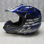 GMAX Helmet DOT 46X Off Road Motocross Blue Shredder Adult Size S Z13