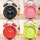 Twin Bell Alarm Clock Metal Frame 3D Dial with Backlight Function Decoration Hot