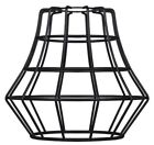 Westinghouse 8102300 - 2-1/4-Inch Matte Black Angled Bell Cage Shade