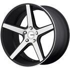 KMC KM685 District 18x8 5x112 +38mm Machined Black Wheels Rims KM68588057538