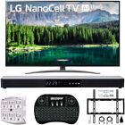 "LG 75SM8670 75"" 4K HDR Smart LED IPS TV w/ AI ThinQ 2019 Model + Soundbar Bundle"