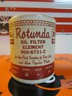 Vintage NOS FoMoCo Oil Filter Element Can * Ford * Part# 000-6731-C * Rotunda