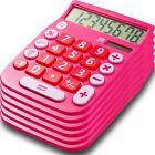 Office + Style 8 Digit Dual Powered Desktop Calculator with Large LCD Display, P