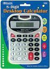 Bazic 8-Digit Silver Desktop Calculator with Tone 48 pcs sku# 346206MA