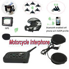 V6 1200M Motorcycle Helmet Interphone Bluetooth Intercom GPS Headset 6Rider Y1D4
