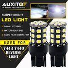 2X AUXITO 7443 7440 Brake Tail Turn Signal Back up Reverse Light bulb White EOA