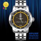 Lincoln Elegant Logo US car Sport Metal Watch