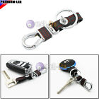 1X Red Leather Strap Keychain Key Chain Ring Key Fob Key Holder Business Styling