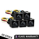 5Pack 12V 30/40 Amp 5-Pin SPDT Automotive Relay With Hot Wire Relay Socket