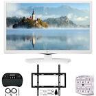 "LG 24LM520D-WU 24"" HD TV Monitor (2019) w/ Wall Mounting Bundle"