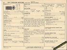 1971 CHECKER MOTORS 350 ci / 245 hp Car & Taxi SUN ELECTRONIC SPEC SHEET