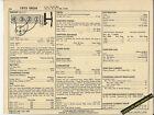 1973 CHEVROLET VEGA 4 Cylinder 85 hp / 140 ci Car SUN ELECTRONIC SPEC SHEET
