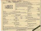 1973 FORD MERCURY MONTEGO/TORINO/THUNDERBIRD 429 Car SUN ELECTRONIC SPEC SHEET
