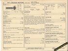 1971 CHECKER MOTORS 250 ci 145 hp 6cylinder Car & Taxi SUN ELECTRONIC SPEC SHEET
