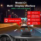 Car Head Up Display HUD C1 Digital LCD OBD2 GPS OBDII Diagnostic Tool Code Scan