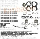 1997 1998 1999 Yamaha 600 Sleds 74.80 mm STD Bore SPI Pistons Bearings Gaskets