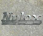 Vintage Nylox Western Marine Supply Chrome Metal Boat Emblem Badge Decal  2