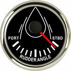 "Black 52MM/2"" Rudder Angle Indicator 0-190 Ohms For Yacht Marine Universal 9-32V"