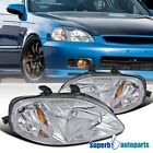 For 1999-2000 Honda Civic EK EX LX Si Headlights Head Lamps