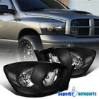For 2006-2008 Dodge Ram Headlight Head Lamps Black Pair Replacement
